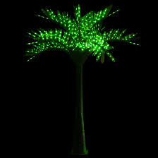 lighted palm trees 20 led palm tree green