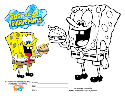 squarepants coloring pages spongebob bebo pandco