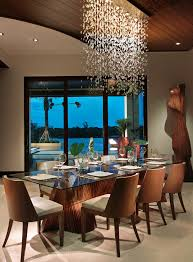 Modern Dining Room Sets Miami Marvelous Plug In Chandelier Mode Miami Tropical Dining Room