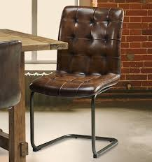 Brown Leather Chairs For Dining 7 Best Leather Dining Chairs Images On Pinterest Leather Dining