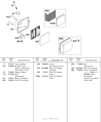 briggs and stratton 138432 0190 e1 parts diagram for air cleaner