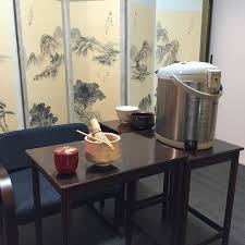 japanese tea ceremony in table and chair style tea ceremony koto