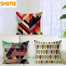 ou jeter un canapé smavia motif géométrique coton housse de coussin carré imprimé
