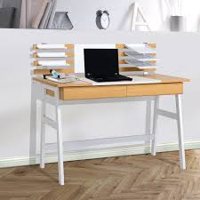Secretary Computer Desk by Aosom Homcom Contemporary Design Secretary Modern Writing Desk