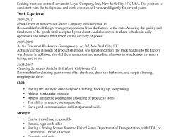 Truck Driver Resume Example Download Resume For Truck Driver Haadyaooverbayresort Com