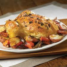 Roast Whole Chicken Garlic Herb Roasted Chicken U0026 Potatoes Carrots U0026 Onions Recipe