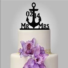 anchor wedding cake topper nautical wedding planning theme ideas decor supplies