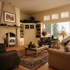 Simple Family Room Decor Ideas With Nice Curtains And Nice Shelves - Family room decorating images