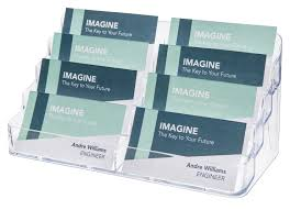 clear buisness cards business card holder specialty marketplace