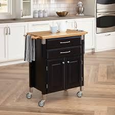 dolly madison prep and serve kitchen cart black walmart com