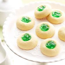 lemon thumbprint cookies with mint jelly sandra lee
