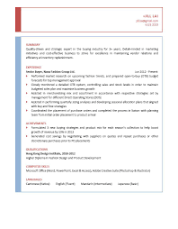 Senior It Auditor Resume Senior Buyer Cv Ctgoodjobs Powered By Career Times