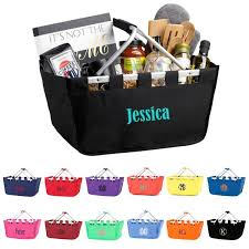 personalized basket personalized baskets market totes giftshappenhere gifts