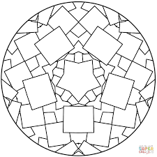 simple mandala coloring page free printable coloring pages