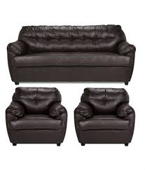 leatherette 3 1 1 sofa set