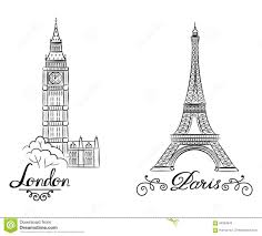 paris eiffel tower sketch stock illustration image of france