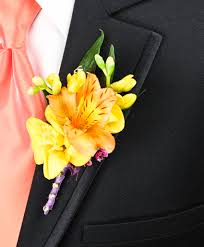 boutonniere flower springtime sunset prom boutonniere flower shop network