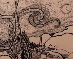 inspired by van gogh u0027s starry night by zilknitha on deviantart