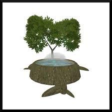 second marketplace tree stump tub