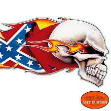 Rebel Flags Pictures Skull Rebel Flag Biker Tank Motorcycle Decal Stickers Amt Custom