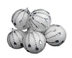 silver crystal christmas ornament sears