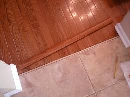 T Shaped Transition Strip by Wood Floor To Tile Transition