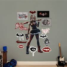 dc comics villains mural fathead wall decal dc comics wall decals dc comics harley quinn arkham knight peel and stick wall decal by
