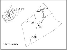 West Virginia Counties Map by Clay County Center For Excellence In Disabilities