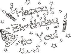happy birthday colouring page birthday card ideas pinterest