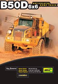 dump truck articulated dump truck b50d bell equipment co sa pdf catalogue