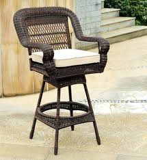 image of outdoor wicker bar stools swivel outdoor wicker swivel