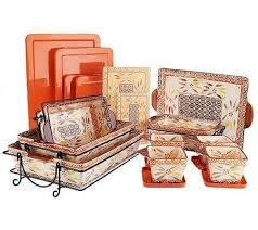oven to table bakeware sets temp tations old world 16 piece oven to table set amazon co uk