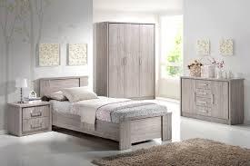 image chambre enfant commode 2 portes 4 tiroirs contemporain chêne gris kyliane commode