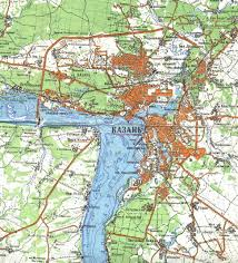map of kazan map showing kazan