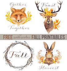 free woodland watercolors printables 35 free fall printables