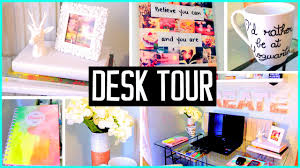 desk tour what u0027s in my desk diy decor u0026 organization ideas youtube