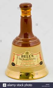 special bottle of bells old scotch whiskey distilled in scotland