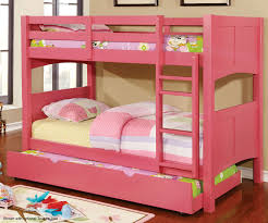 Bunk Beds With Trundle Prismo Pink Bunk Bed Cm Bk608t Pk Furniture Of America Kids