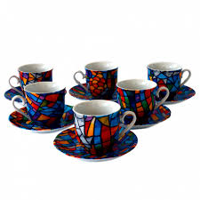 coffe cups set 6 espresso coffee cups sagrada familia gaudi barcelona shop