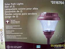 portfolio solar path lights portfolio solar walkway path lights ebay