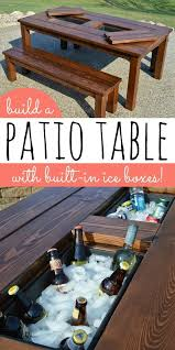 Diy Outdoor Patio Table 40 Easy And Diy Outdoor Furniture Projects