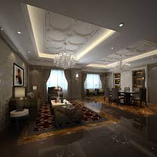 fancy living room combined with dining room 3d model max fancy living room combined with dining room 3d model max