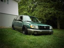 stanced subaru forester fs for sale wv 16x10 et25 5x100 diamond racing steelies with