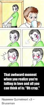 Meme Phone Falling On Face - that awkward moment when you realize you re falling in love and all