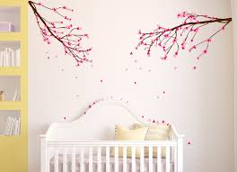 Cherry Blossom Tree Wall Decal For Nursery Large Wall Nursery Tree Branch Baby Decal Cherry Blossom Flowers