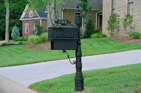 cast aluminum decorative mailbox with paper box black