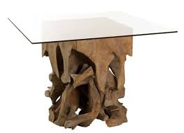 teak root dining table base root dining table made from reclaimed materials