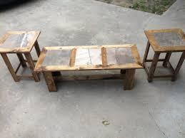 tile top coffee table tiled top coffee table tabula rasa