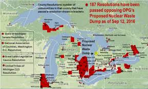 canadian map with great lakes canadian government delays approval of nuclear waste dump on lake
