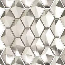 Stainless Steel Metal Tiles For Bathroom  Kitchen Backsplash - Metal tiles backsplash